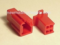 Hitachi Style 4 Prong Red Mini Block Plug