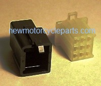 Hitachi Style 9 Prong Black and Opaque Mini Block Plug
