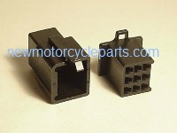 Hitachi Style 9 Prong Black Mini Block Plug