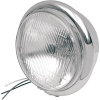 5 3/4 Pedistal Mount Chrome Headlight