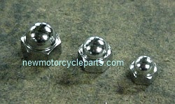 Chrome Acorn nuts