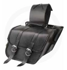 Compact Braided Slant Saddlebags