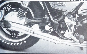 Turn-out Slip-On Mufflers shown on CB900C