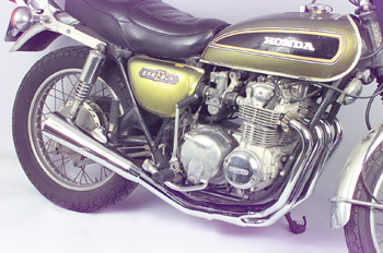 All Chrome 4-1 Shown On '71-'73 CB500-4
