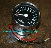 Polished Stainless Steel Mini Tachometer