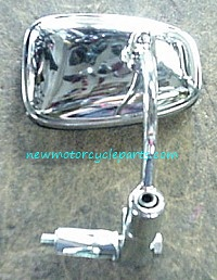 Chrome bar End Mirror