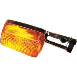 Chrome Plastic Rectangular Honda Signal