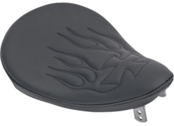 Small Solo Seat with flames and maltis cross pattern