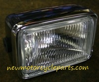 Rectangular Headlight Assembly with Replaceable Bulb