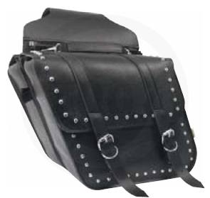 Studded Slant Saddlebags