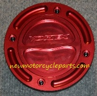 Vortex Red Annodized billet Cap and Base